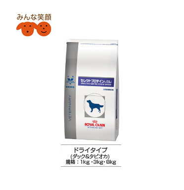 Dry Royal Canin select BT protein (duck & tapioca) 3 Kg for dog skin diseases caused by food allergies and digestive disorders