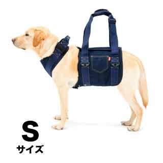 【with】歩行補助ハーネス LaLaWalk大型犬用 デニム【S】