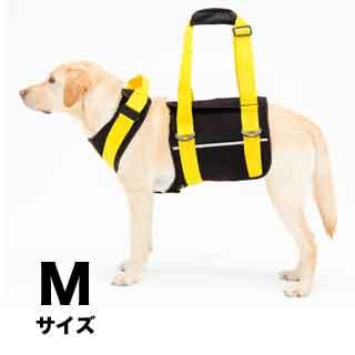 【with】歩行補助ハーネス LaLaWalk大型犬用 ネオプレーン黒【M】