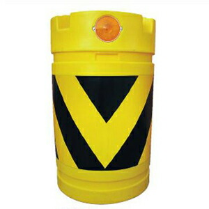【安全興業】デリネーター付ドラム君(PE製) KDD-3【黄黒】※代引き不可商品※【K】