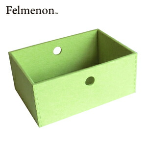 【送料無料】【フェルメノン】HOZO BOX(M) ライトグリーン 5個セット 【フェルト 収納 雑貨】【代引不可】【LI】
