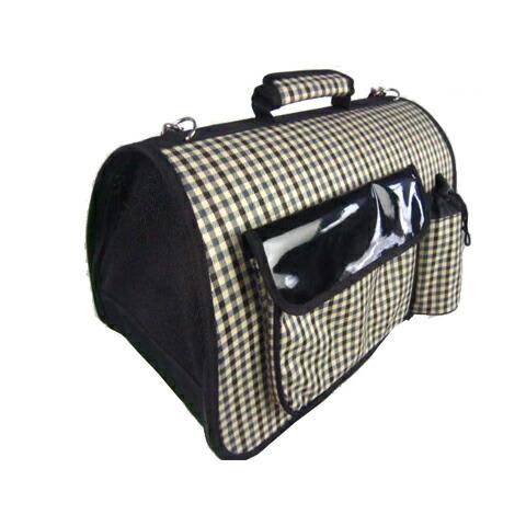 注文後の変更キャンセル返品 バッグ内に飛び出し防止器具付 PET なごみ ペット用 キャリーバッグ CoCoBANANA Mountain チェック柄 サイズM 誕生日プレゼント T 4580418461588