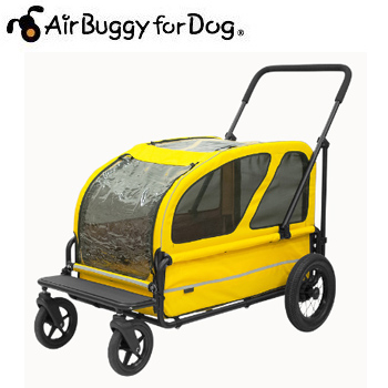 AirBuggyforDog(エアーバギー) CARRIAGE キャリッジ スマイルイエローセット【キャリーバッグ/カート/ペットカート/ペットバギー】【犬用品・犬/ペット用品・ペットグッズ】【39ショップ】
