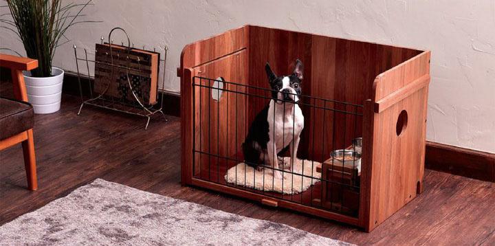 porta ウッディドッグホーム 犬 ドッグ ペット サークル 室内 小型犬 ハウス ケージ ドックサークル 木製 ペティオ 【TC】