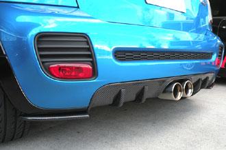 BMW MINI R56 リアディフューザー Ver.JCW カーボン ミニ エアロパーツ
