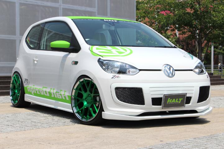 HALT,VW,up!,フォルクスワーゲン、アップフロントリップスポイラー、エアロパーツ(カーボン)