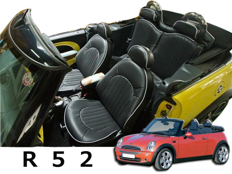 BMW MINI R52専用 CABANAオーダーメイドシートカバー パークレーン 全シート