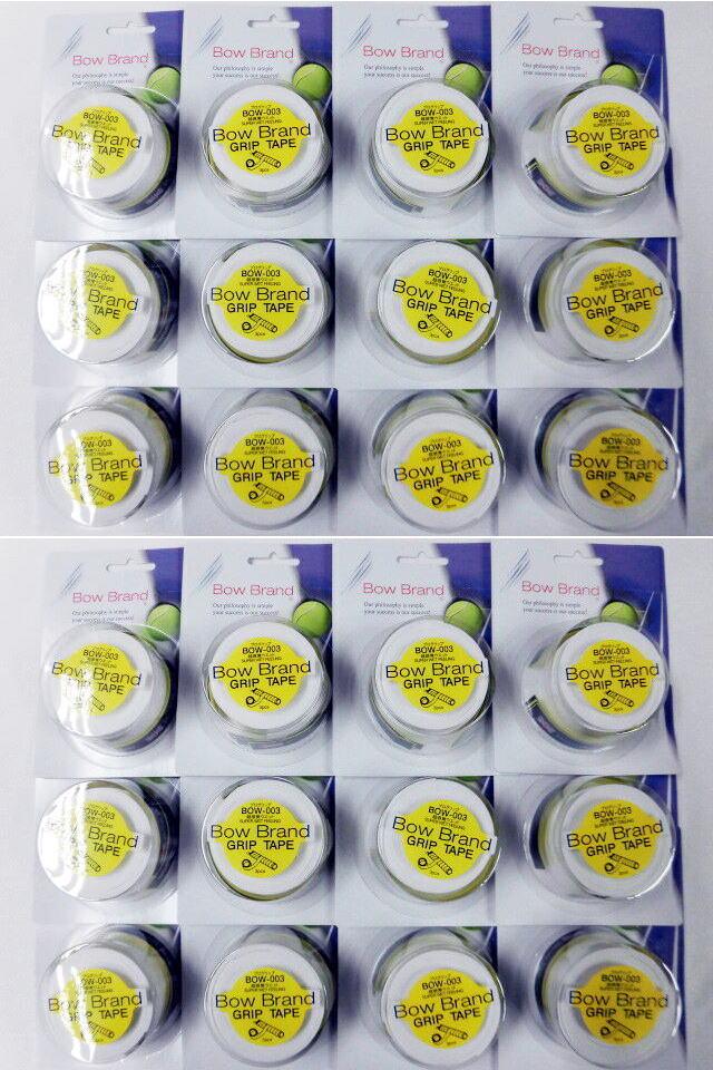 ボウブランド(BOW BRAND)グリップテープ3本巻ホワイト×24個セット