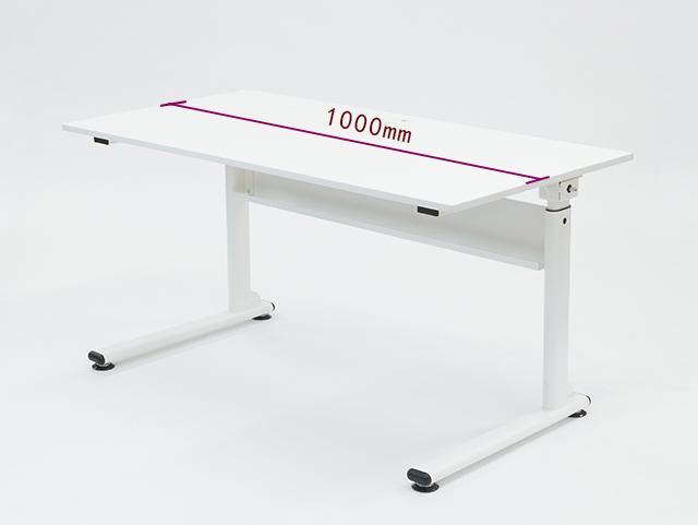 【送料無料/代引き不可】FLIFT 昇降デスク W1000 リフティングテーブル 昇降式 ハンドル 手動 22-001MH-1