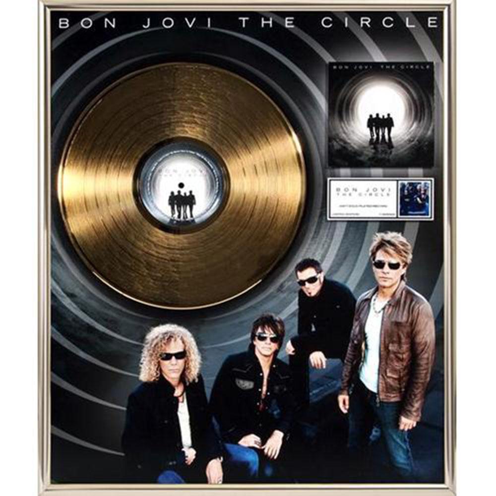 来日記念 BON JOVI ボン・ジョヴィ - The Circle / GOLD DISC / インテリア額 【公式 / オフィシャル】