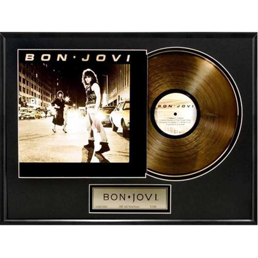 来日記念 BON JOVI ボン・ジョヴィ - Bon Jovi / GOLD DISC / インテリア額 【公式 / オフィシャル】