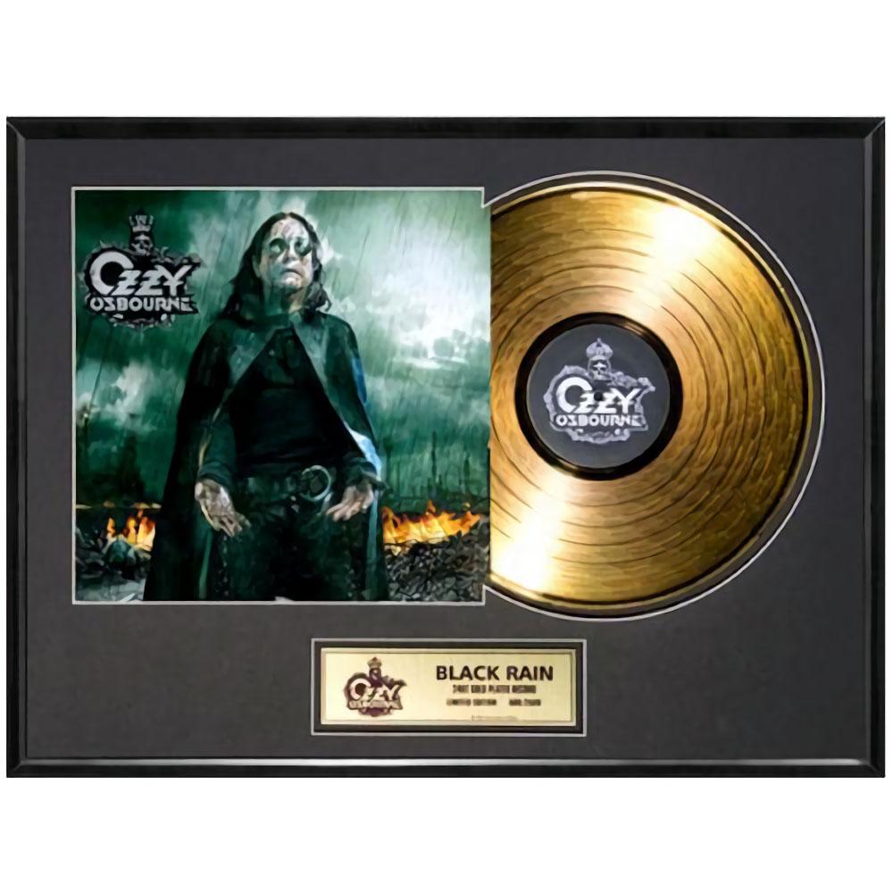 OZZY OSBOURNE オジーオズボーン - Black Rain / GOLD DISC / インテリア額 【公式 / オフィシャル】