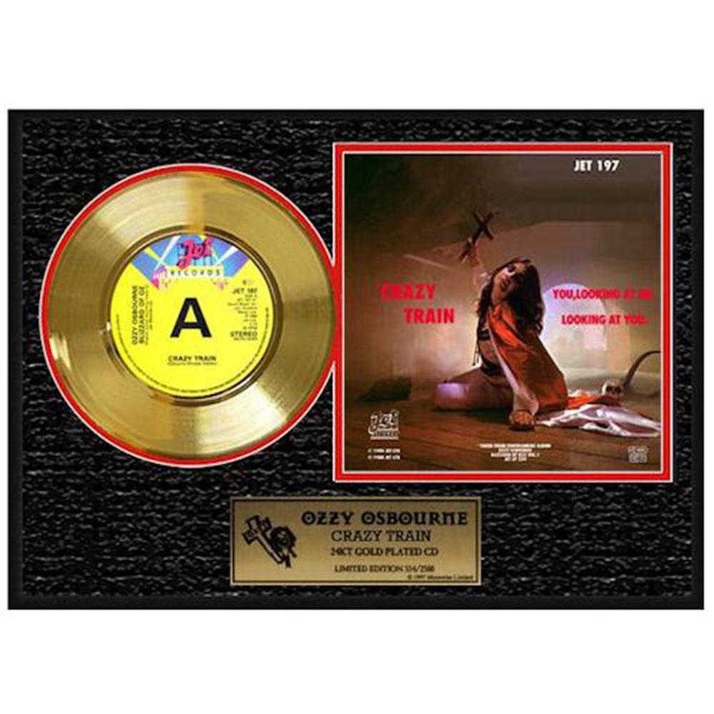 OZZY OSBOURNE オジーオズボーン Crazy Train / GOLD DISC / インテリア額 【公式 / オフィシャル】