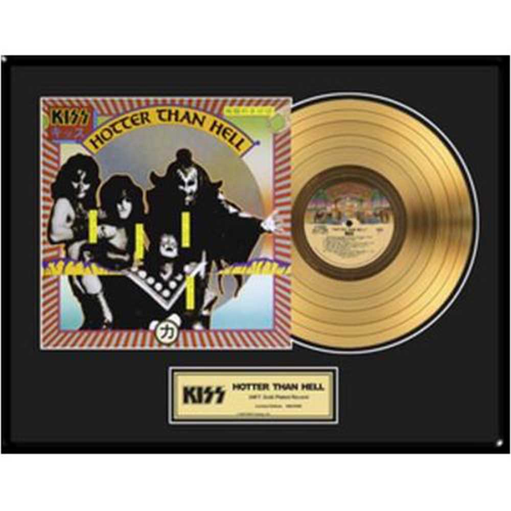 KISS キッス (End of the Road Tour ) - Hotter Than Hell / GOLD DISC / インテリア額 【公式 / オフィシャル】