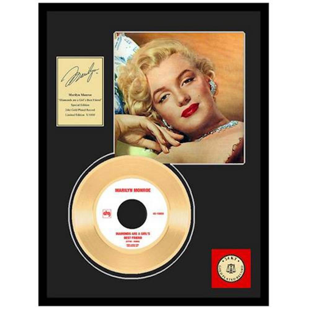 MARILYN MONROE マリリンモンロー Diamonds Are A Girl's Best Friend / GOLD DISC / インテリア額 【公式 / オフィシャル】