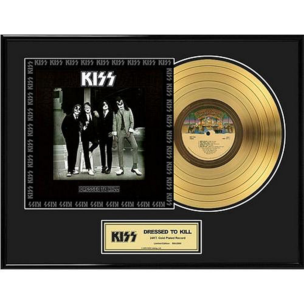 KISS キッス (End of the Road Tour ) - Dressed To Kill / GOLD DISC / インテリア額 【公式 / オフィシャル】