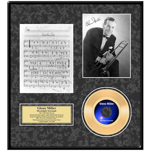 GLENN MILLER グレンミラー Moonlight Serenade / GOLD DISC / インテリア額 【公式 / オフィシャル】