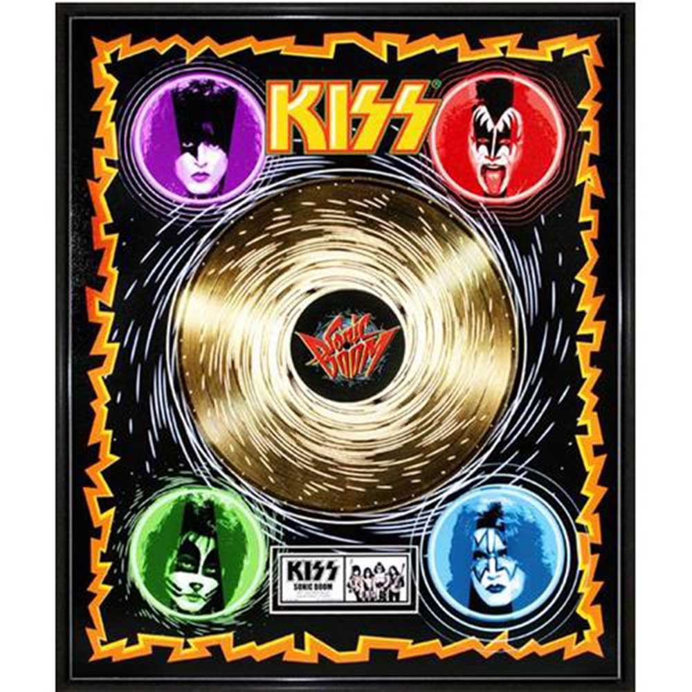 結成45周年記念 KISS キッス - Sonic Boom / GOLD DISC / インテリア額 【公式 / オフィシャル】