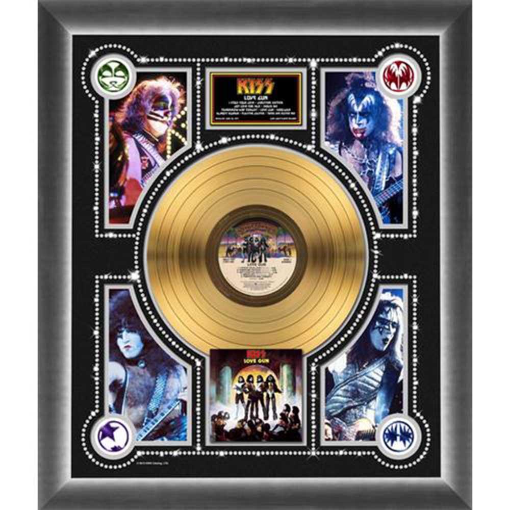 結成45周年記念 KISS キッス - Love Gun / GOLD DISC / インテリア額 【公式 / オフィシャル】
