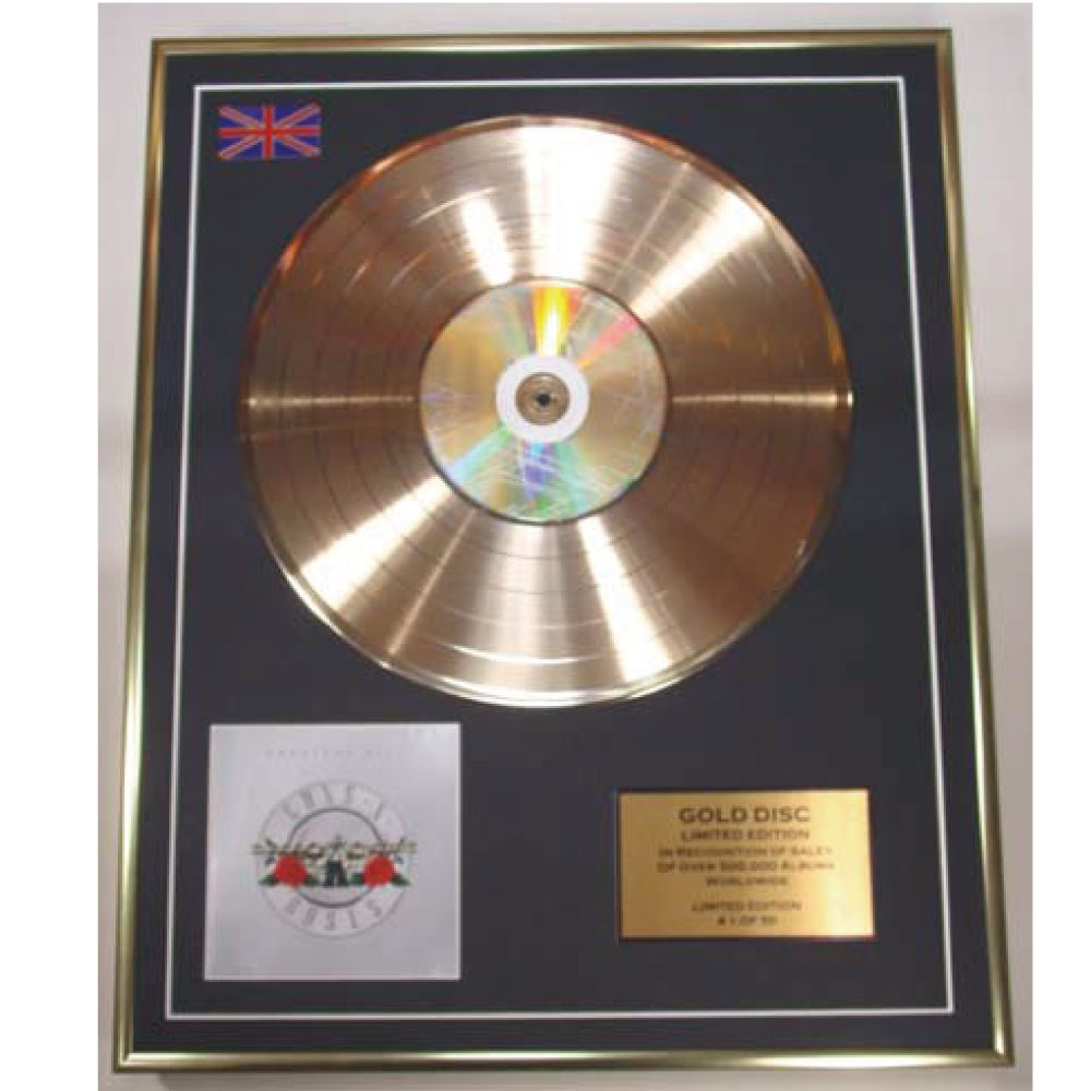 GUNS N ROSES ガンズアンドローゼズ インテリア・ゴールドディスク / Greatest Hits(限定50) / インテリア額