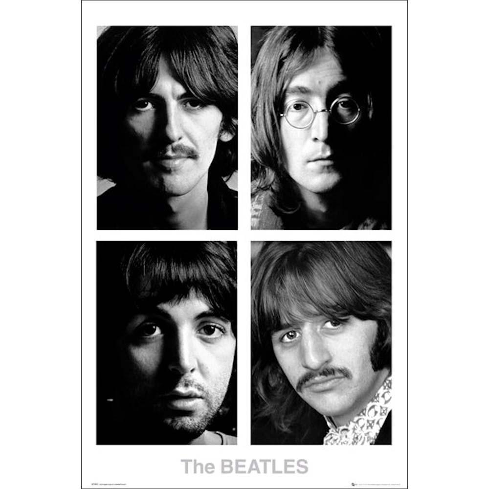 RockEntertainment公式グッズ 正規ライセンスアイテム BEATLES ビートルズ 来日55周年記念 - オフィシャル White 在庫限り ポスター 公式 Album 毎週更新