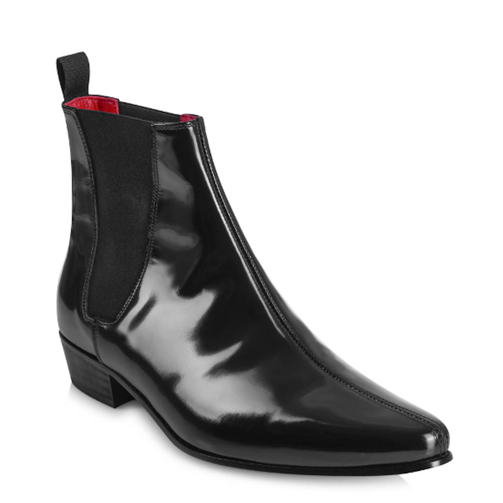 BEATLES ビートルズ Cavern Boots - Black Hi Shine Leather / ブーツ・革靴 【公式 / オフィシャル】
