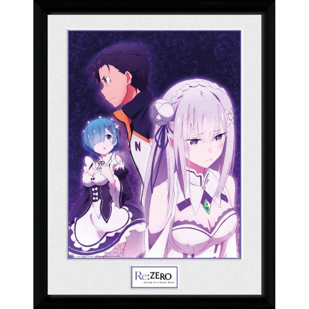 RE:ZERO Re:ゼロから始める異世界生活 - Trio / 額入りフォトボード / インテリア額 【公式 / オフィシャル】