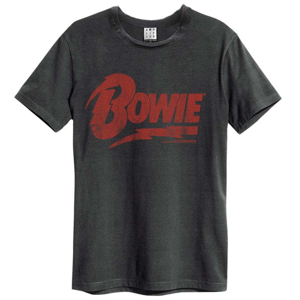 DAVID BOWIE デヴィッド・ボウイ (Space Oddity発売50周年記念 ) - LOGO / Amplified( ブランド ) / Tシャツ / メンズ 【公式 / オフィシャル】