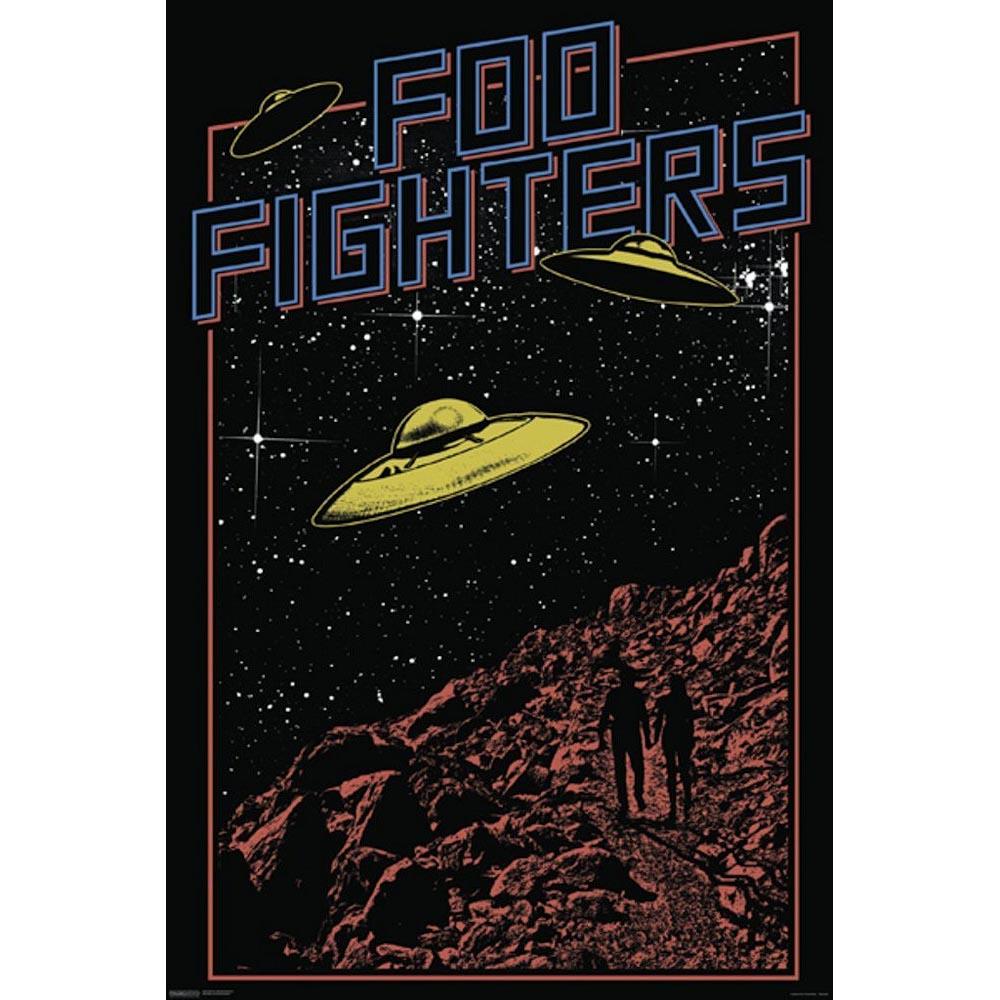 格安店 RockEntertainment公式グッズ 正規ライセンスアイテム FOO FIGHTERS フーファイターズ ポスター 新品未使用 オフィシャル - 公式 UFO