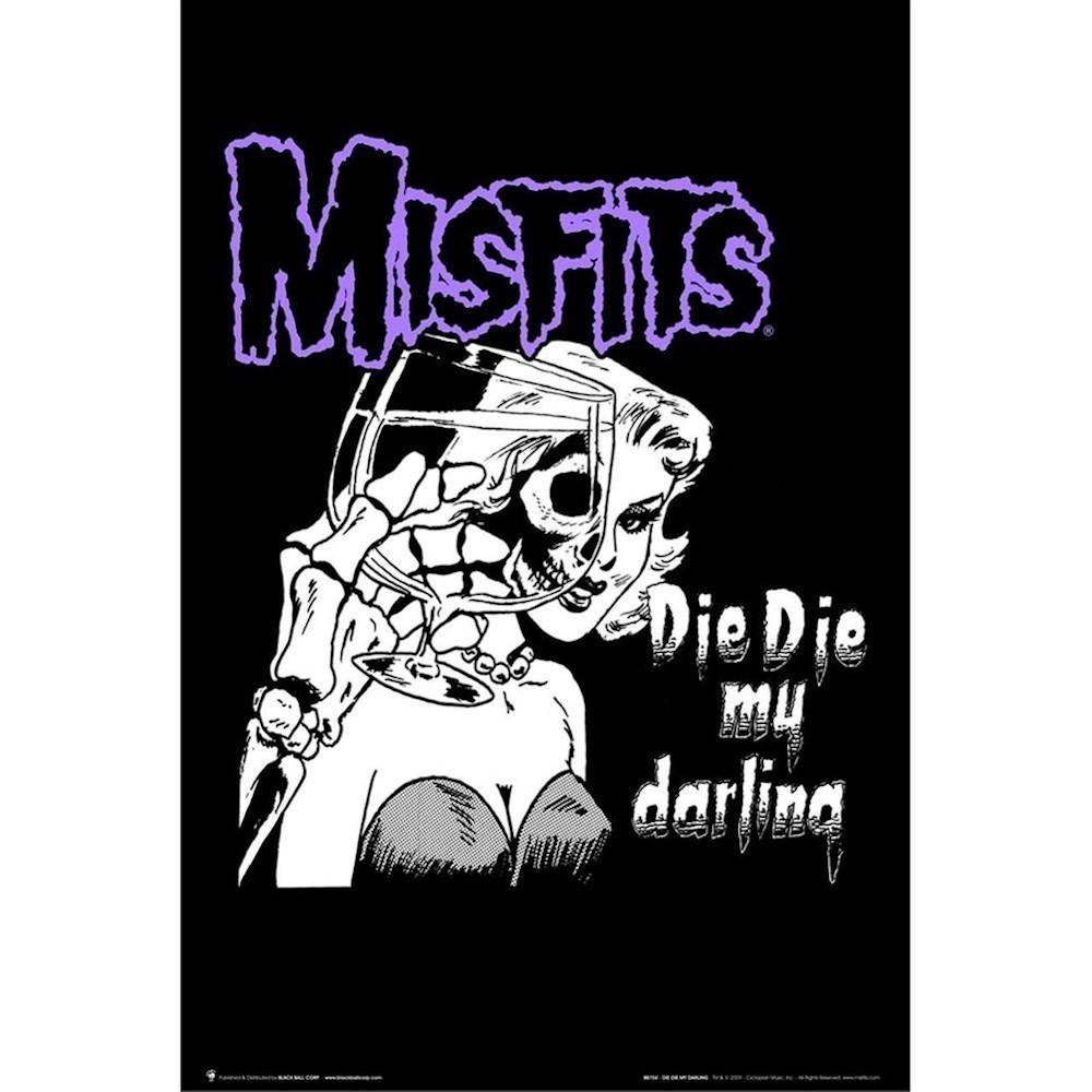 RockEntertainment公式グッズ 正規ライセンスアイテム MISFITS メーカー再生品 ミスフィッツ - 絶版ポスター ポスター Darling オフィシャル 公式 Die My 格安SALEスタート