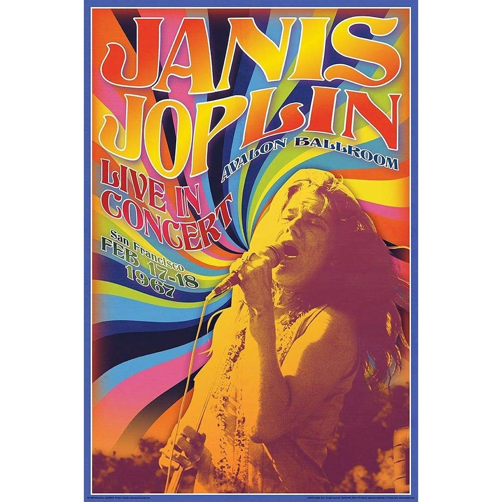 RockEntertainment公式グッズ 新品未使用 正規ライセンスアイテム JANIS 大人気! JOPLIN ジャニスジョプリン ポスター オフィシャル - 公式 Concert