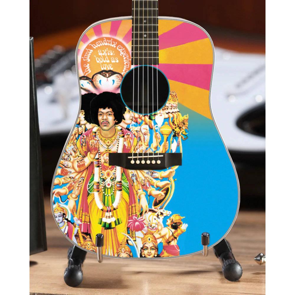 JIMI HENDRIX ジミヘンドリックス (WOODSTOCK 50周年記念 ) - AXIS Bold As Love Mini Acoustic Guitar / ミニチュア楽器 【公式 / オフィシャル】