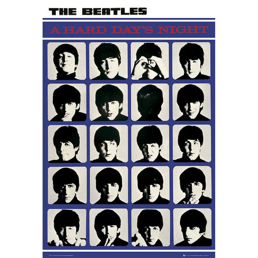 RockEntertainment公式グッズ 正規ライセンスアイテム BEATLES ビートルズ 来日55周年記念 - ついに再販開始 Days ポスター Hard 倉庫 オフィシャル Night 公式