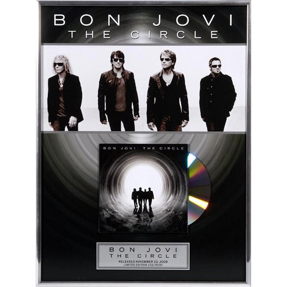 BON JOVI ボン・ジョヴィ (デビュー35周年記念 ) - The Circle / GOLD CD / インテリア額 【公式 / オフィシャル】