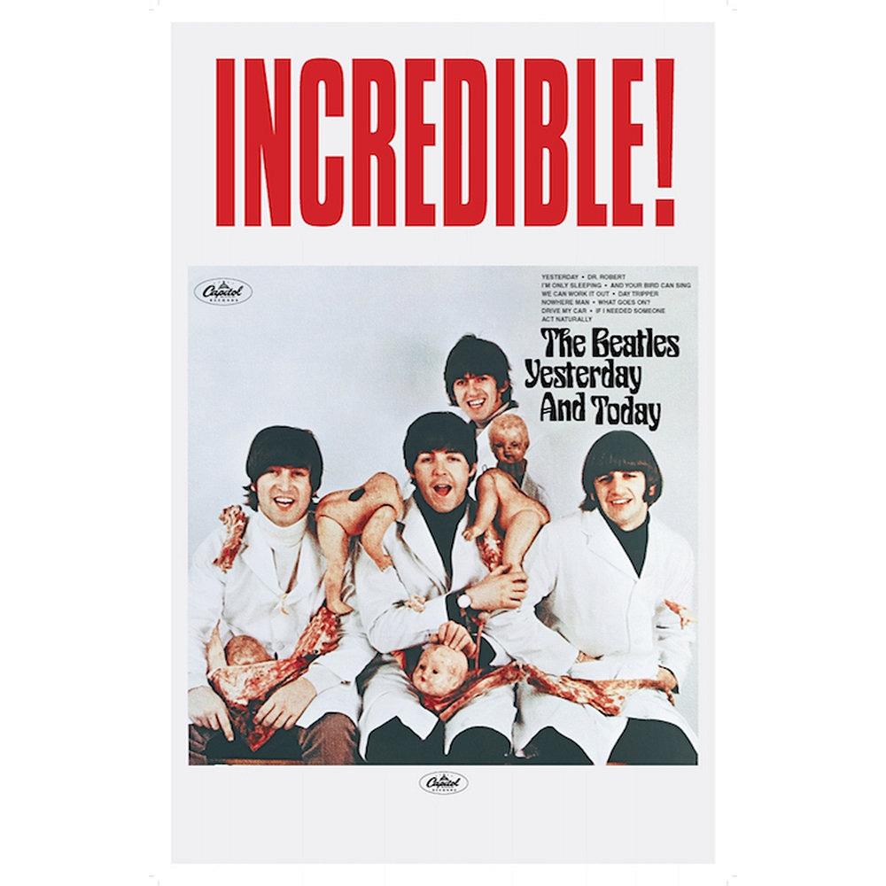 RockEntertainment公式グッズ 正規ライセンスアイテム BEATLES ビートルズ 来日55周年記念 定番スタイル Yesterday Today ポスター 男女兼用 -