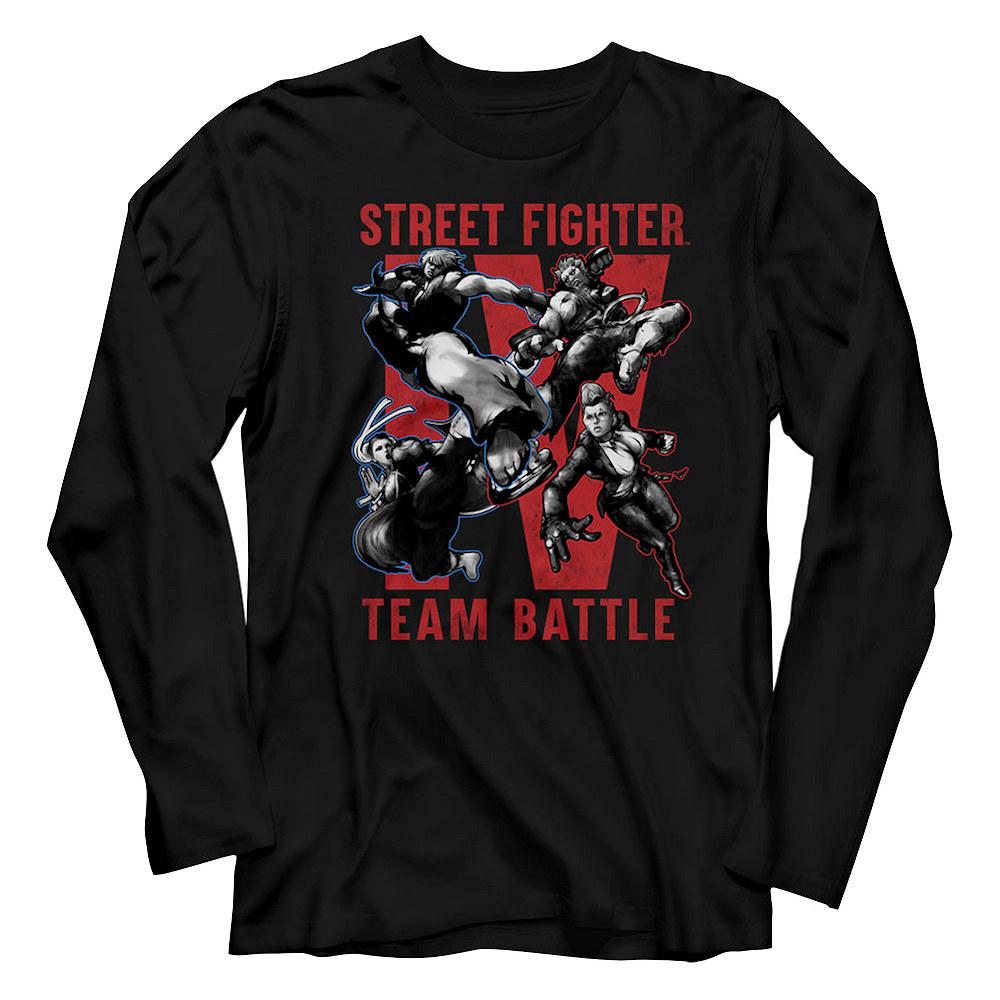 STREET FIGHTER ストリートファイター - TEAM BATTLE/ 長袖 / Tシャツ / メンズ 【公式 / オフィシャル】