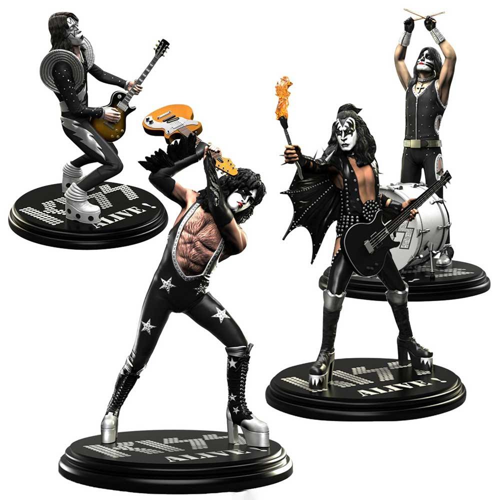 KISS キッス (フェアウェル・ツアー ) - Rock Iconz Statue Set(ALIVE!) / 世界限定3000体 / フィギュア・人形 【公式 / オフィシャル】