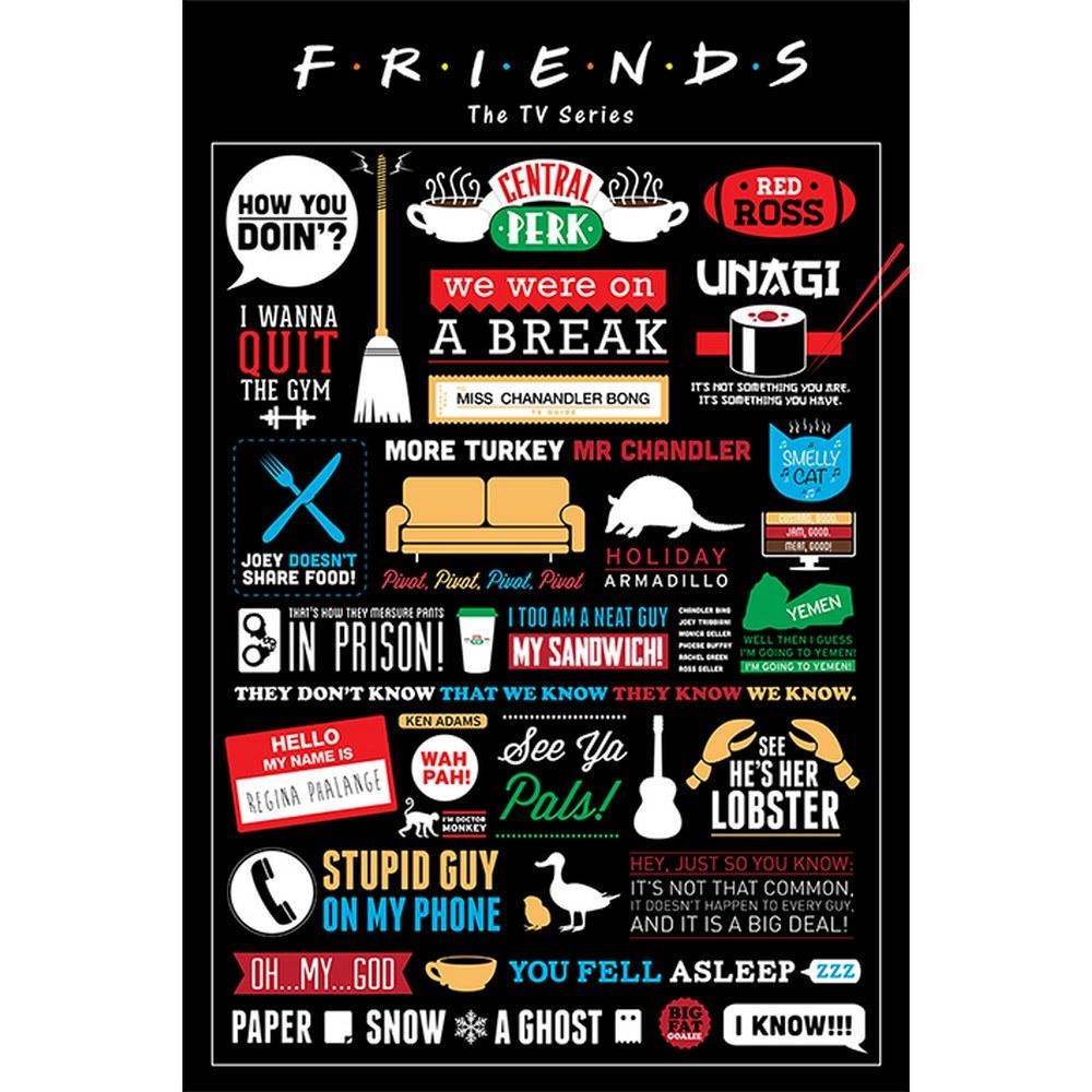 RockEntertainment公式グッズ 正規ライセンスアイテム FRIENDS フレンズ 信憑 ザ リユニオン 新商品!新型 公式 ポスター - オフィシャル Infographic