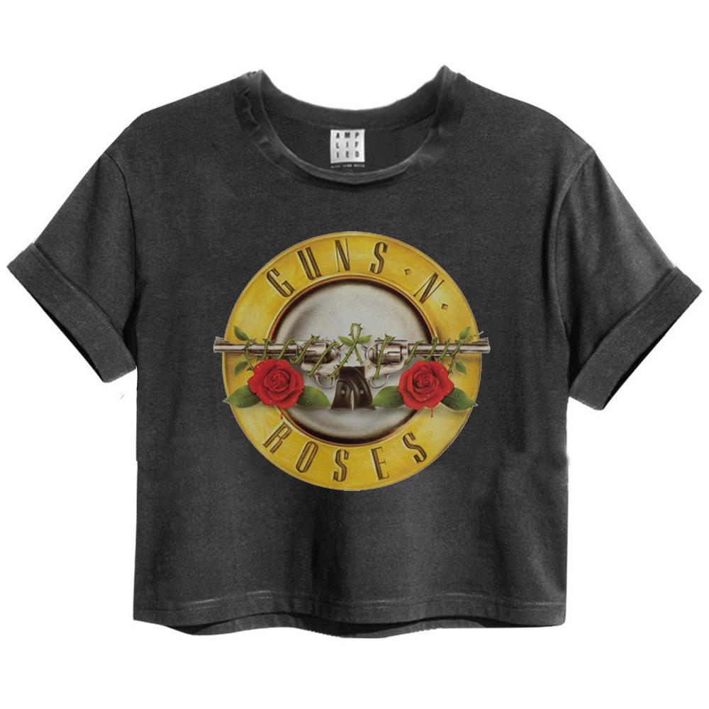 GUNS N ROSES ガンズアンドローゼズ - BULLET / Amplified( ブランド ) / Crop Tops Series / Tシャツ / レディース 【公式 / オフィシャル】