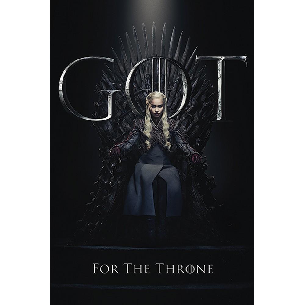 RockEntertainment公式グッズ 正規ライセンスアイテム GAME OF THRONES 人気激安 ゲーム オブ スローンズ 10周年 オフィシャル The ポスター For Throne 公式 Daenerys - 特価