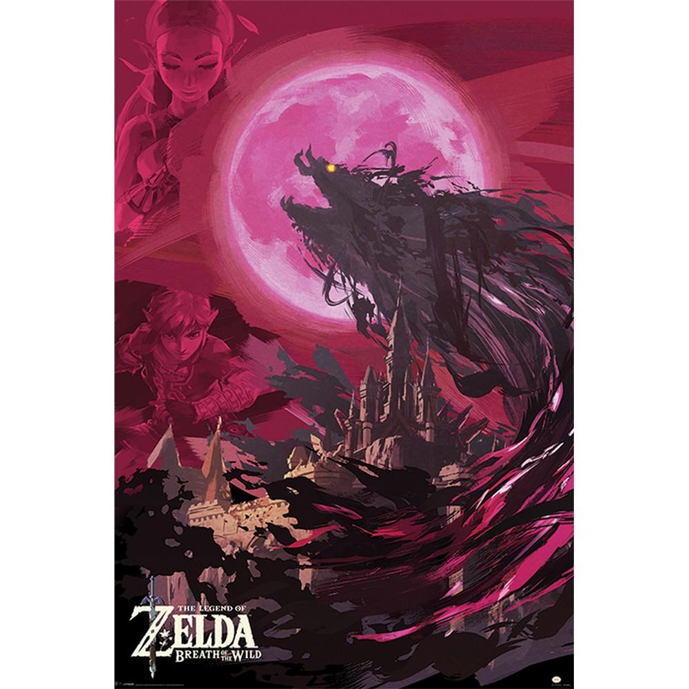 RockEntertainment公式グッズ 正規ライセンスアイテム THE LEGEND OF ZELDA ゼルダの伝説 ゼルダ35周年 - Breath 即納 Wild SALENEW大人気! Blood Moon 公式 The Ganon オフィシャル Of ポスター