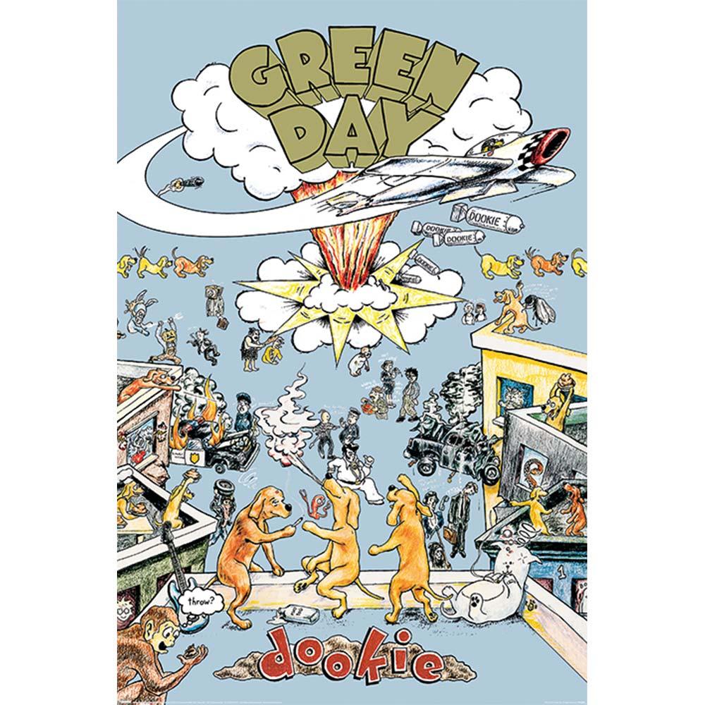 RockEntertainment公式グッズ オープニング 大放出セール 正規ライセンスアイテム GREEN DAY グリーンデイ Hell 公式 - ポスター 18%OFF Dookie Megaツアー開幕 オフィシャル