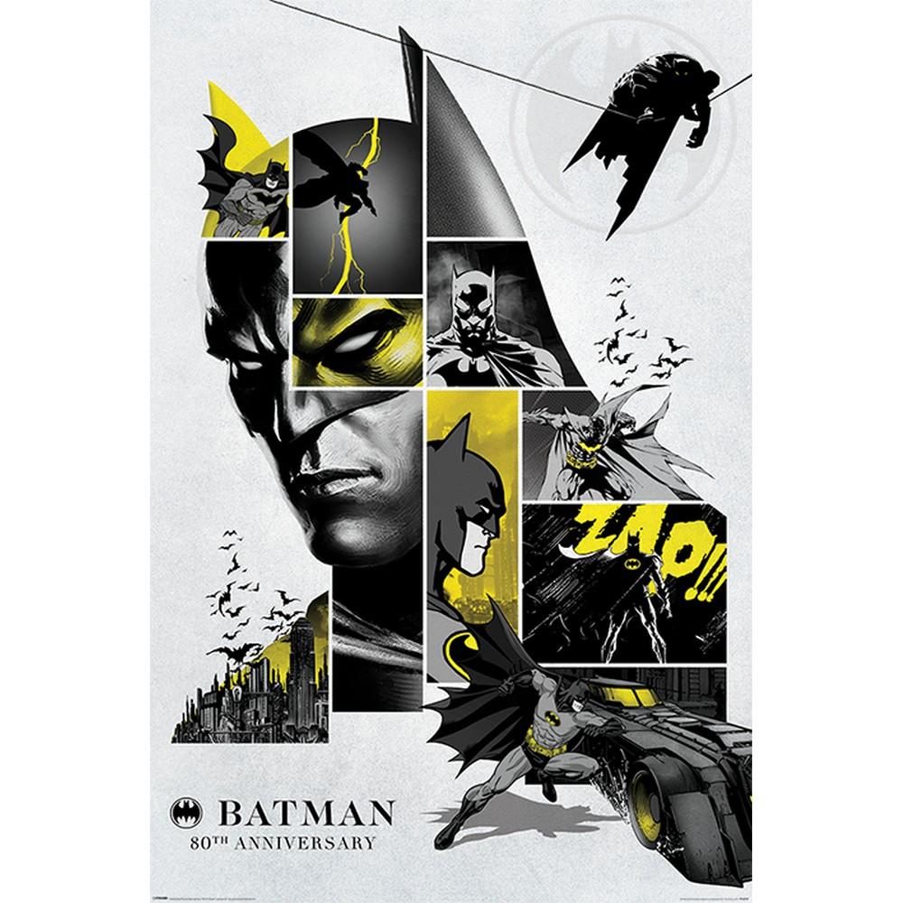 2020モデル RockEntertainment公式グッズ 正規ライセンスアイテム BATMAN バットマン - 80th オフィシャル ポスター Anniversary 公式 超人気 専門店