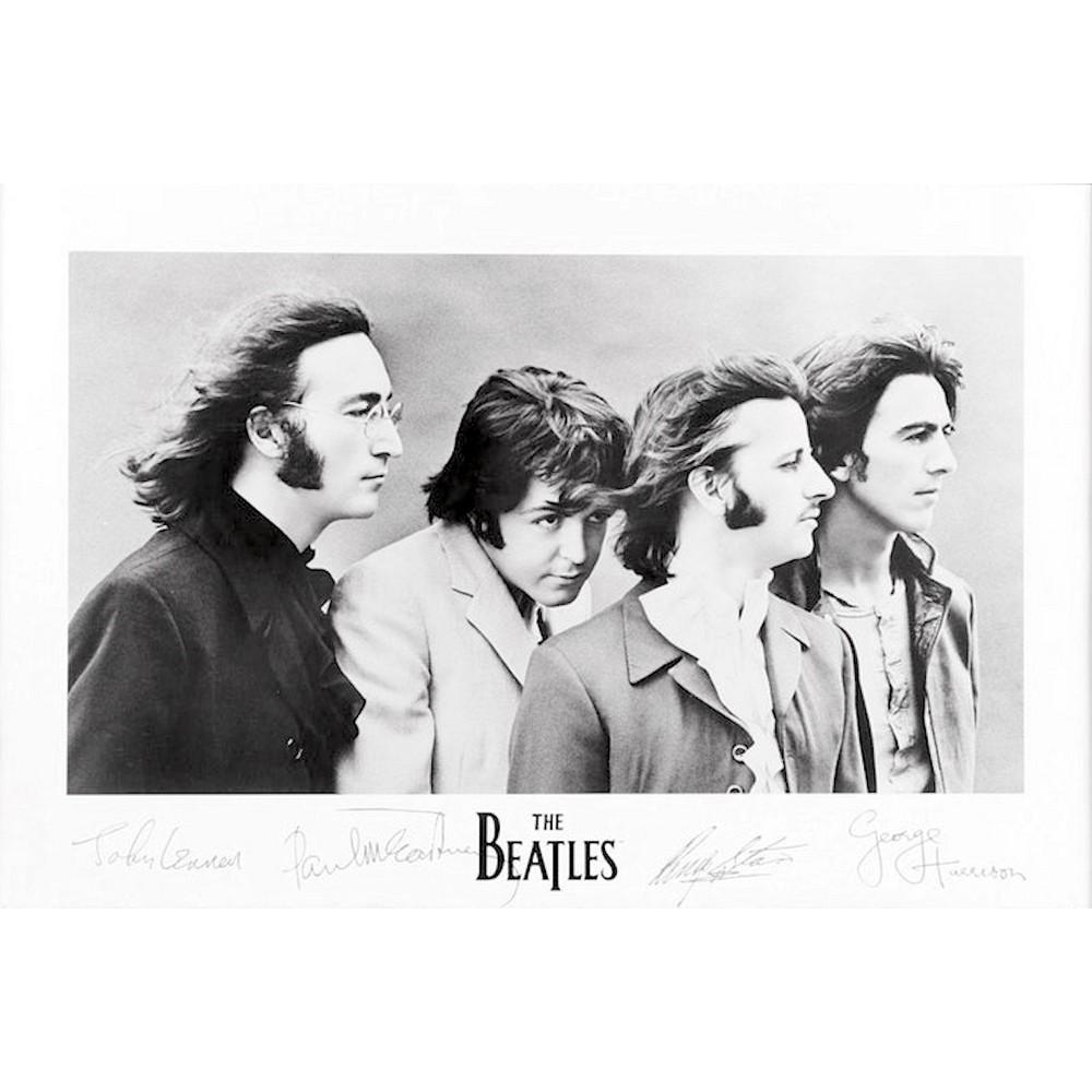 RockEntertainment公式グッズ 正規ライセンスアイテム BEATLES ビートルズ 来日55周年記念 ポスター 数量は多 公式 Signatures オフィシャル 超歓迎された -