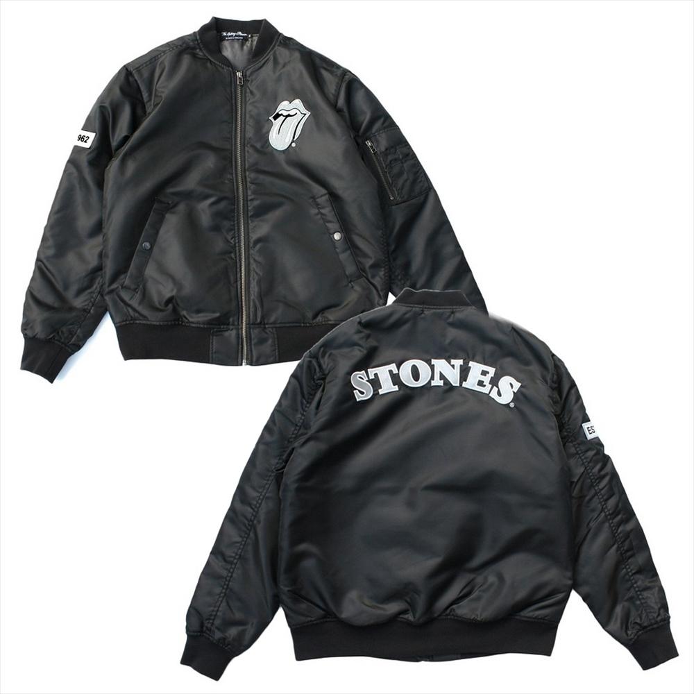 ROLLING STONES ローリングストーンズ (Let It Bleed50周年記念 ) - ジャケット MA-1 STONES / ブラック / アウター / メンズ 【公式 / オフィシャル】