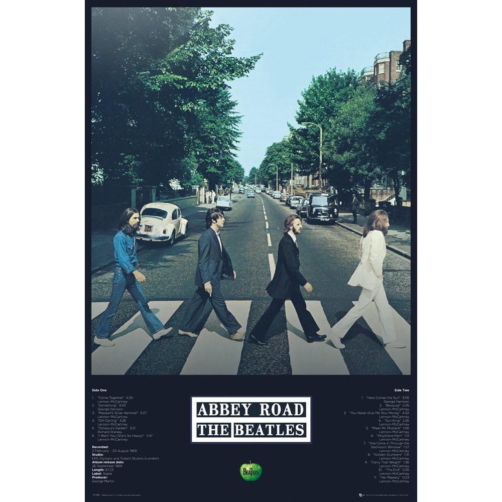 RockEntertainment公式グッズ 正規ライセンスアイテム 海外輸入 BEATLES ビートルズ 来日55周年記念 - Tracks Abbey Road オフィシャル ポスター 公式 大規模セール