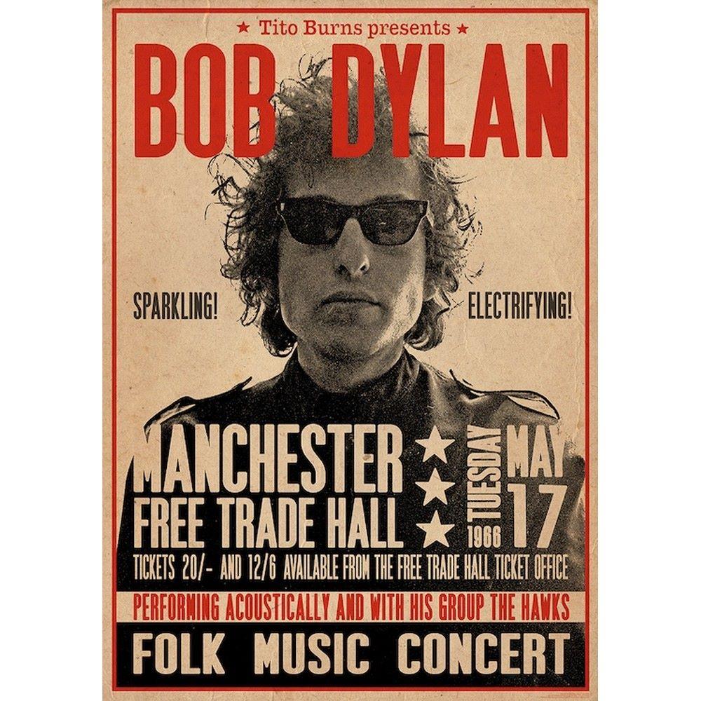 RockEntertainment公式グッズ 正規ライセンスアイテム 日時指定 BOB DYLAN ボブディラン 生誕80年 Manchester オフィシャル ファクトリーアウトレット 公式 1966 ポスター -