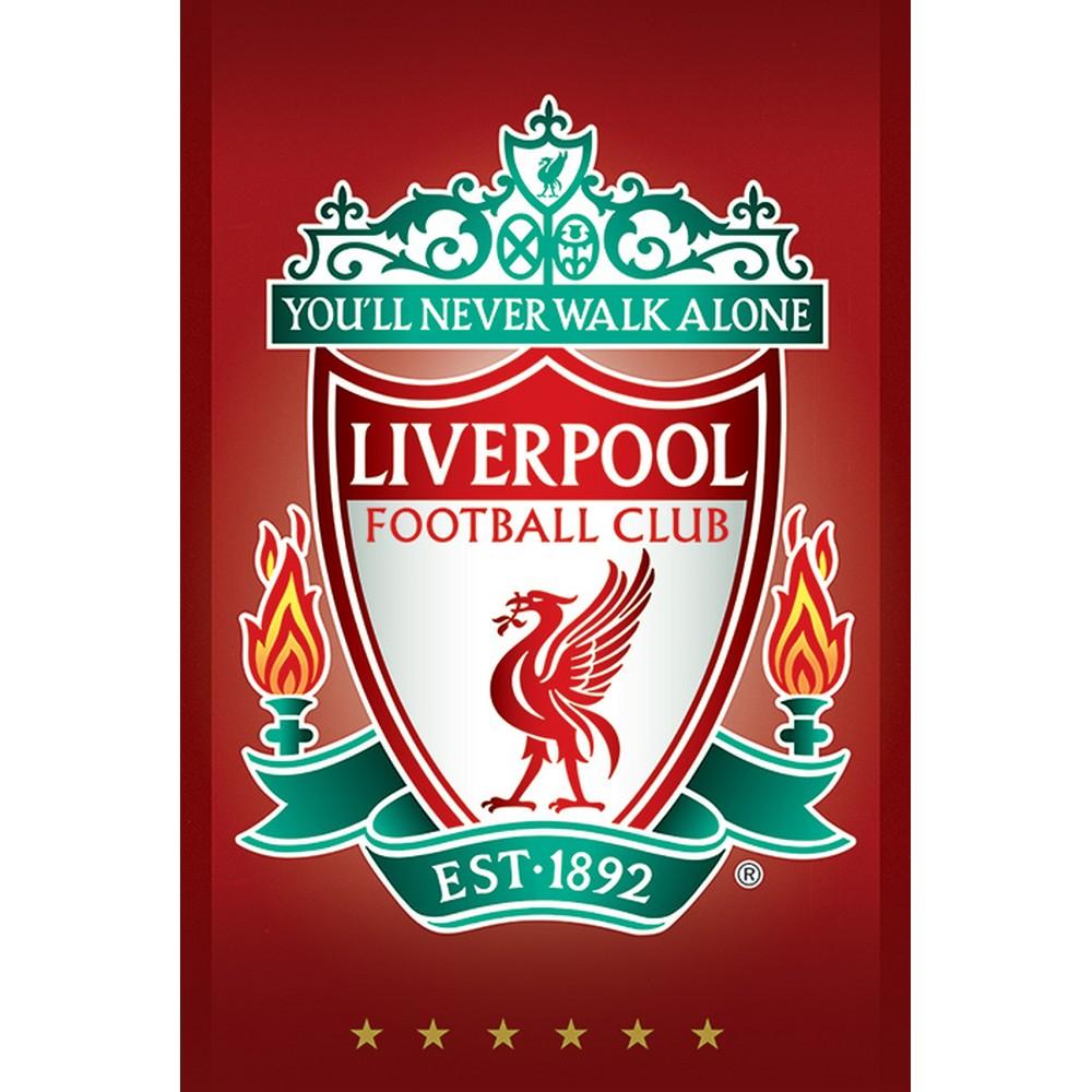 クリアランスsale 期間限定 RockEntertainment公式グッズ 正規ライセンスアイテム LIVERPOOL FC リヴァプールFC Crest ポスター 公式 - バーゲンセール オフィシャル