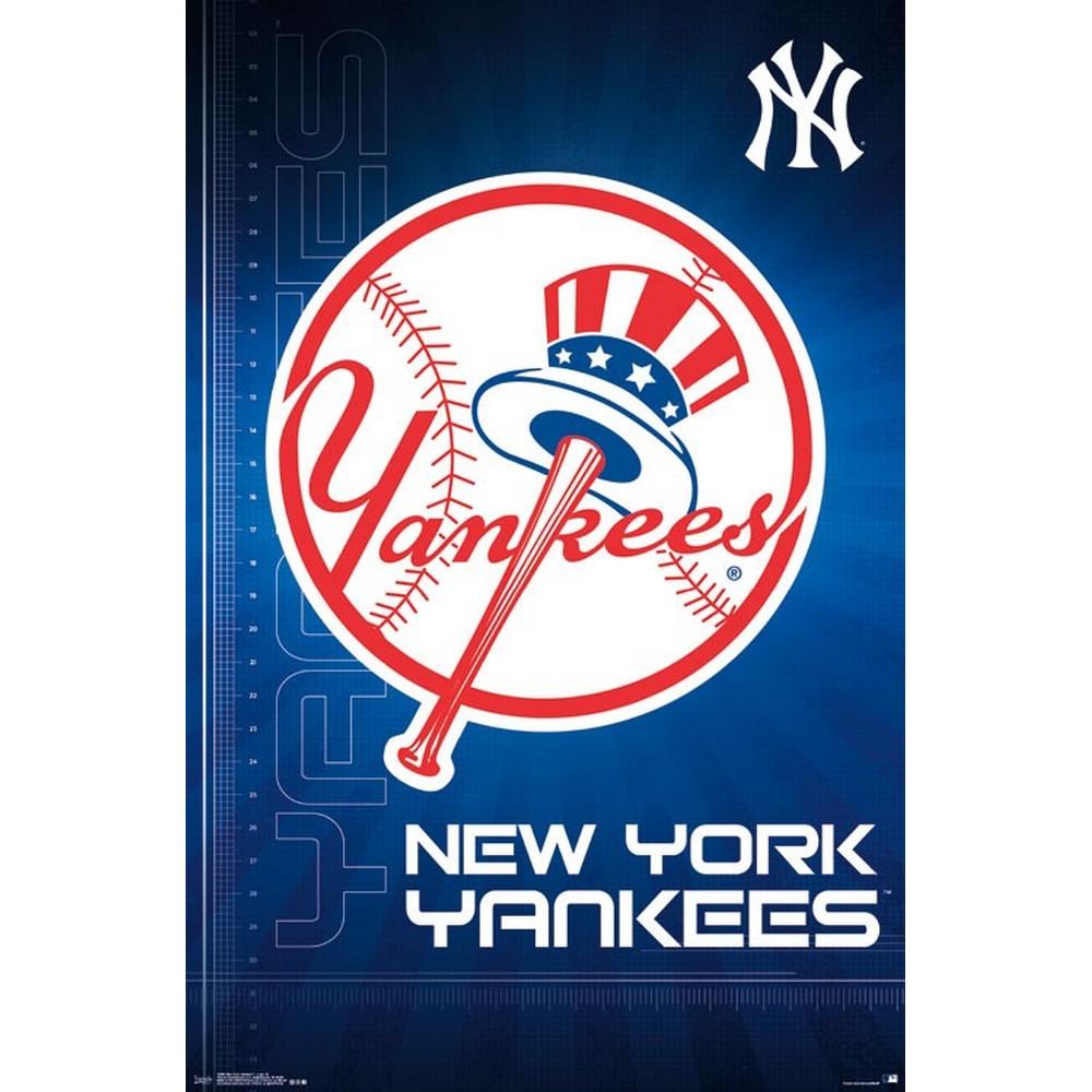 RockEntertainment公式グッズ 正規ライセンスアイテム 未使用品 NEW YORK YANKEES MLB オフィシャル - ポスター 公式 ニューヨークヤンキース Logo 登場大人気アイテム