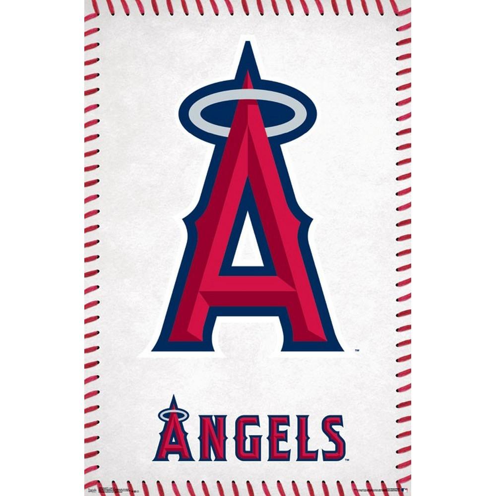 RockEntertainment公式グッズ メーカー公式ショップ 正規ライセンスアイテム LOS ANGELES ANGELS MLB 希少 Logo - ロサンゼルスエンゼルス 公式 オフィシャル ポスター